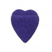 Real Love Esponja Esfoliadora Coração Com Encaixe Para Os Dedos Roxa