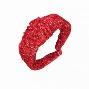 Tiara Com Nó Estilo Turbante Brilhosa Vermelha