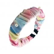 Tiara Tie Dye Com Aplicações Em Pérolas 02