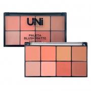 Uni Makeup PALETA DE BLUSH 8 CORES