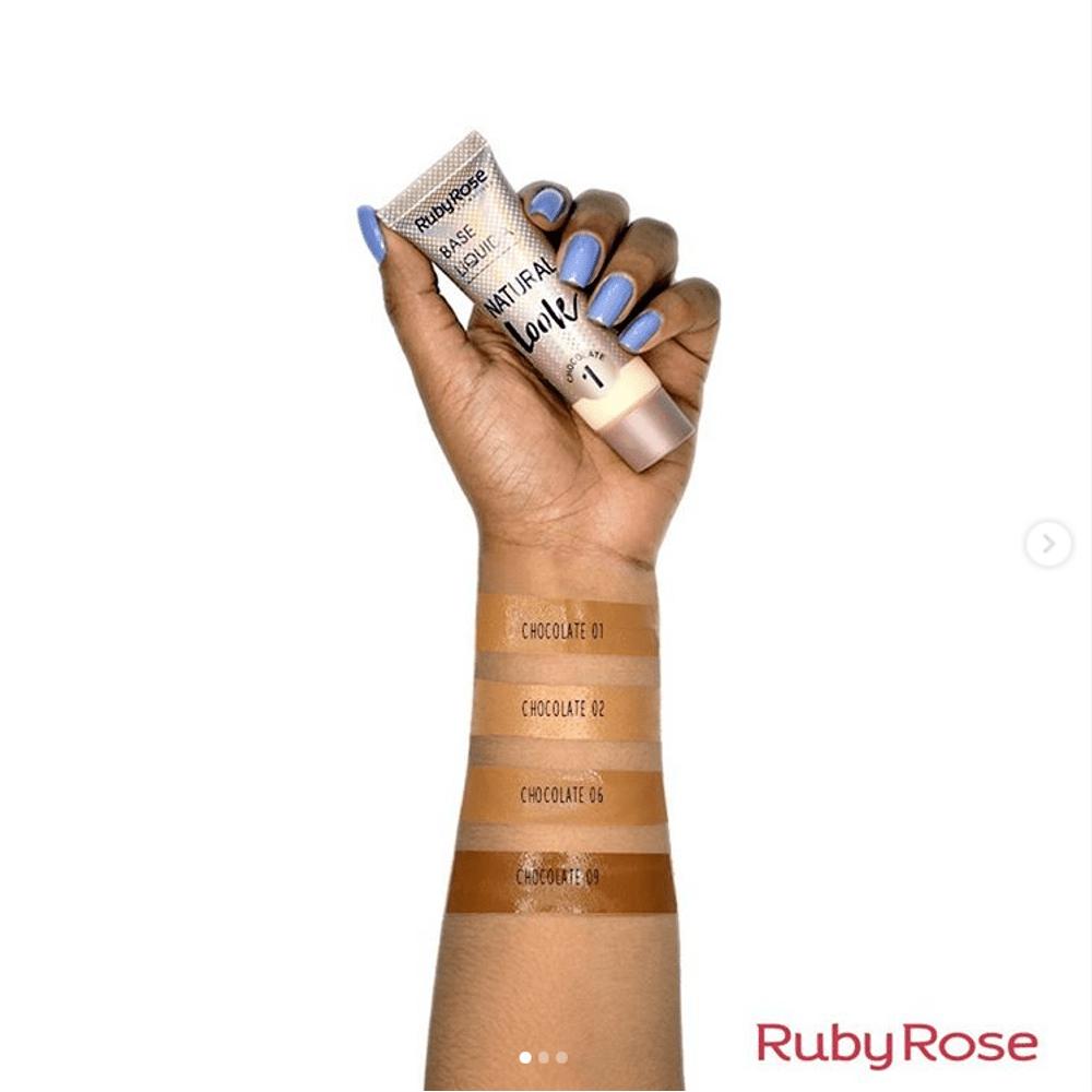 BASE LÍQUIDA NATURAL LOOK CHOCOLATE Ruby Rose-Chocolate 2