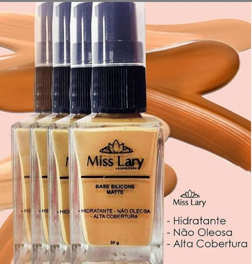 BASE SILICONE MATTE COM ALTA COBERTURA Miss Lary-cor 03