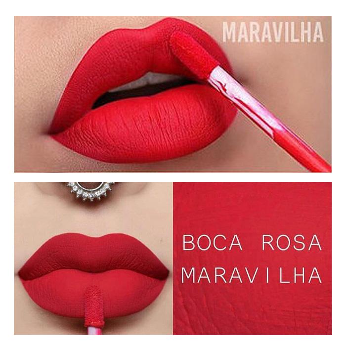 Boca Rosa Batom Líquido Matte - Maravilha