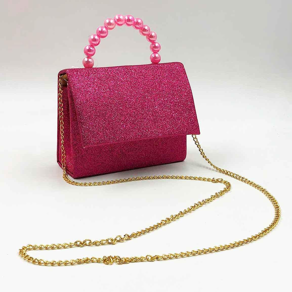 Bolsa Infantil de Glitter - Pink