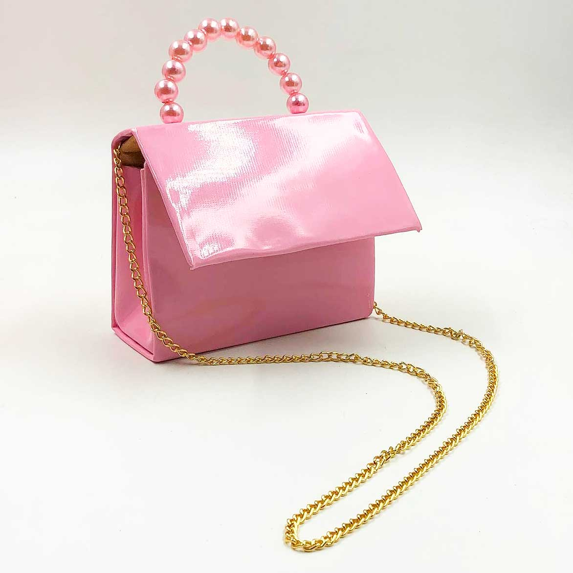 Bolsa Infantil Envernizada - Rosa Claro