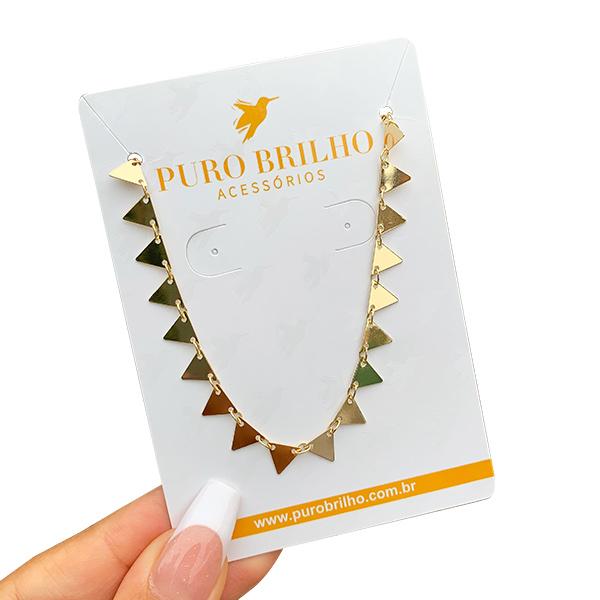 Choker Triângulos Folheado a Ouro 18K