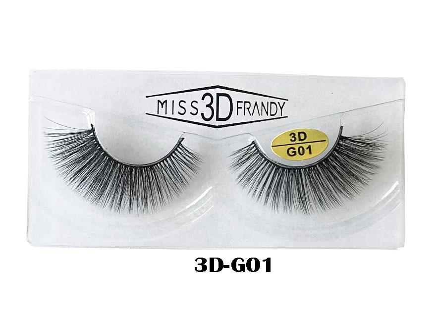 CÍLIOS POSTIÇOS ARTESANAL 3D Miss Frandy -3D-G01