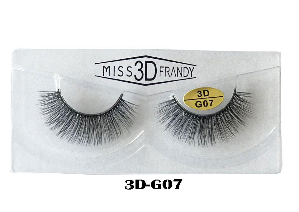 CÍLIOS POSTIÇOS ARTESANAL 3D Miss Frandy -3D-G07