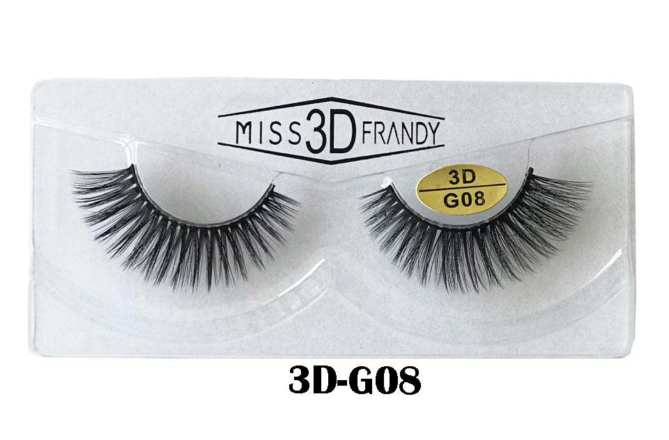 CÍLIOS POSTIÇOS ARTESANAL 3D Miss Frandy -3D-G08