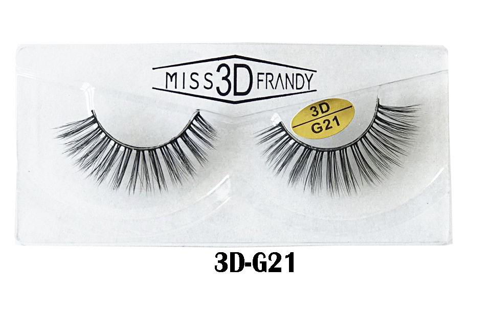 CÍLIOS POSTIÇOS ARTESANAL 3D Miss Frandy -3D-G21