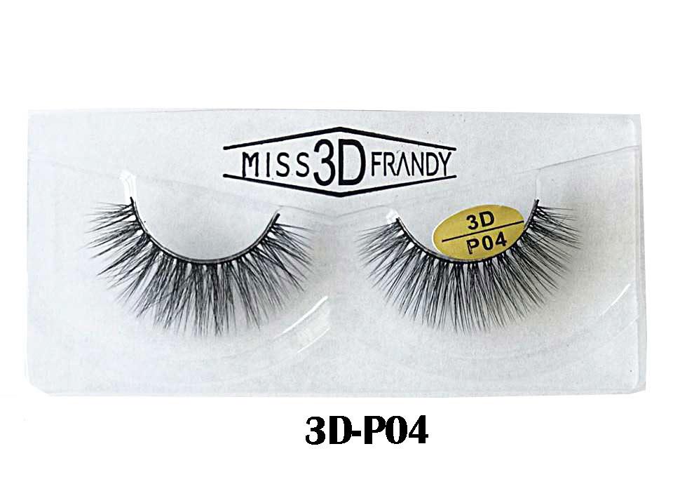 CÍLIOS POSTIÇOS ARTESANAL 3D Miss Frandy -3D-P04