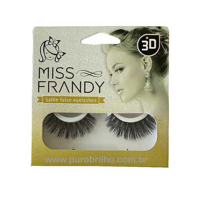CÍLIOS POSTIÇOS SABLE FALSE EYELASHES MINK 3D Miss Frandy -C18-1205