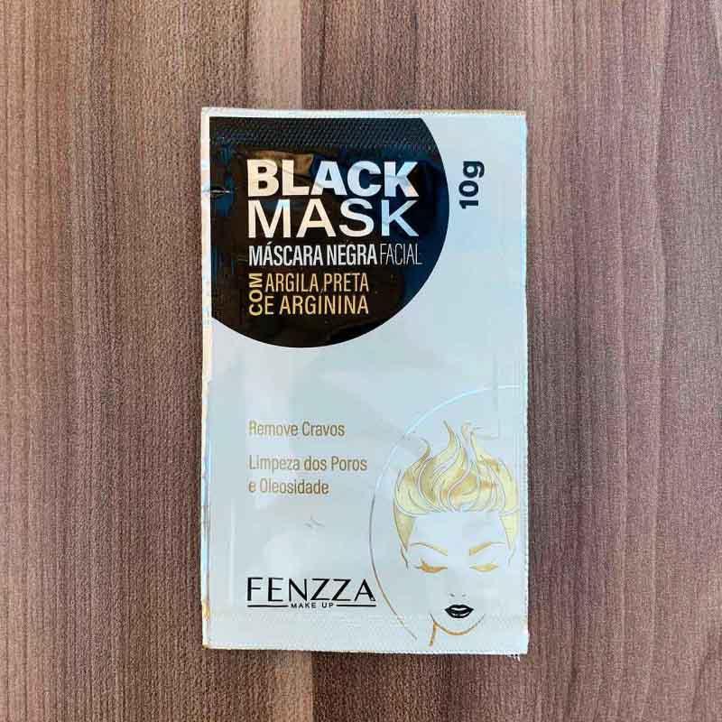 Fenzza Máscara Negra Facial De Limpeza Com Argila Preta E Arginina