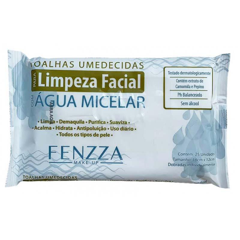 Fenzza TOALHAS UMEDECIDAS PARA LIMPEZA FACIAL COM ÁGUA MICELAR