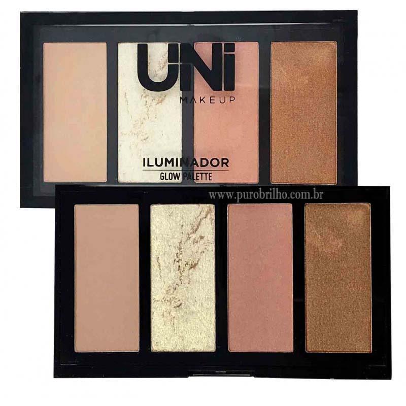 Iluminador Glow Palette Uni Makeup