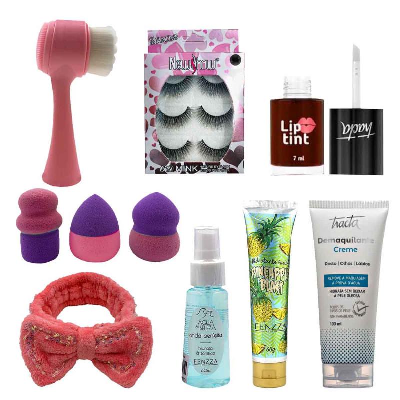 Kit de Maquiagem e Skin Care 6