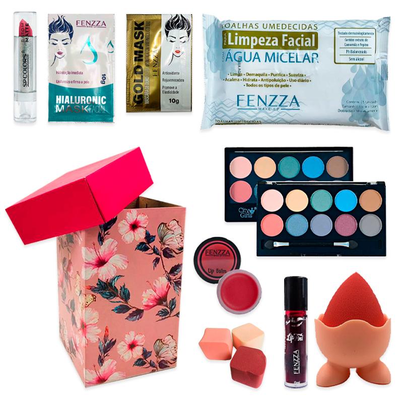 Kit de Maquiagem e Skin Care com Caixa Média para Presente 01