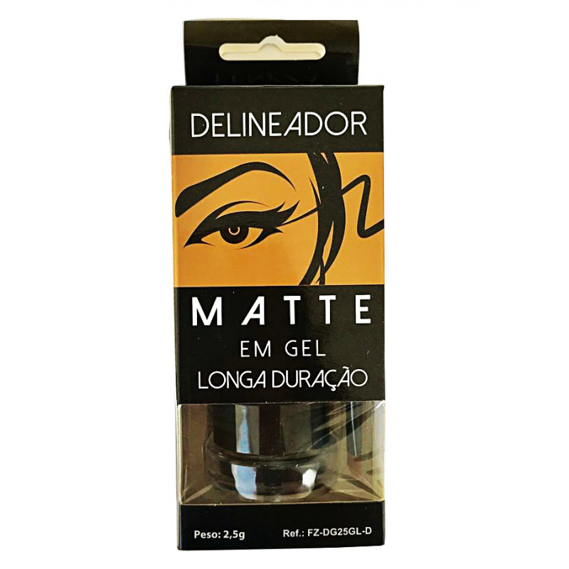 Kit Delineador Matte Em Gel Longa Duração Glamour Fenzza