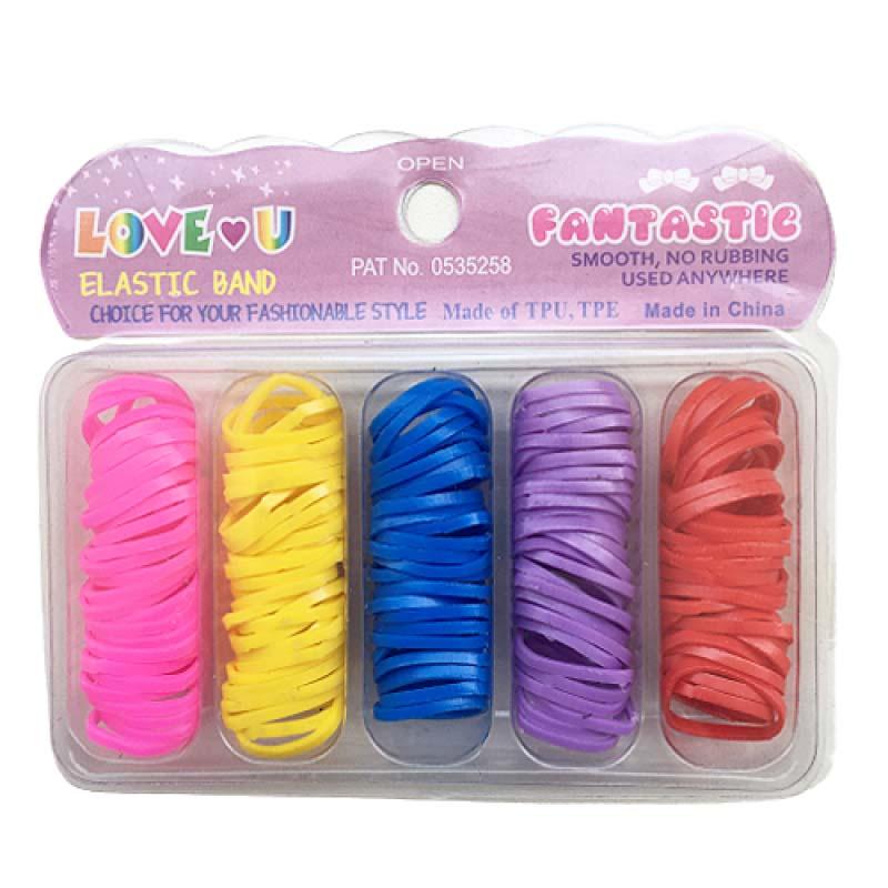 Kit Elásticos Coloridos Para Cabelo 01