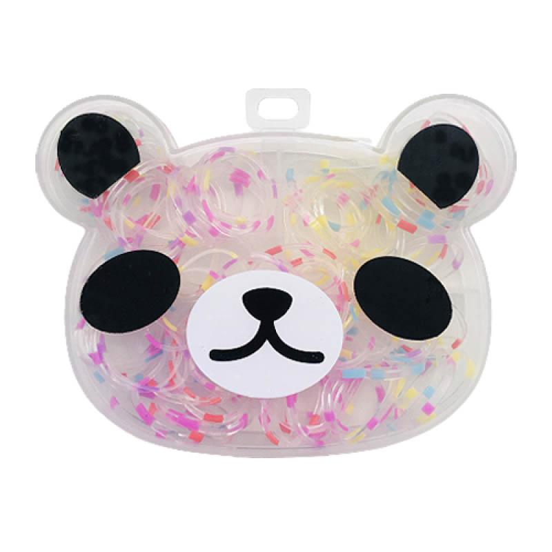 Kit Elásticos Para Cabelo Panda 04