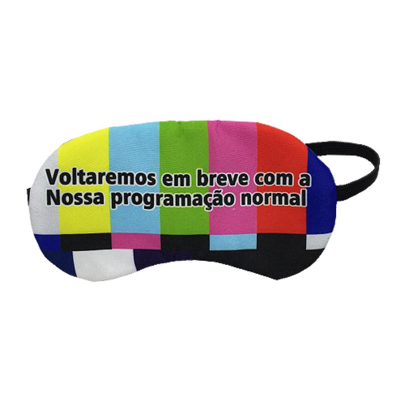 Máscara De Dormir 'Voltaremos Em Breve Com A Programação Normal'