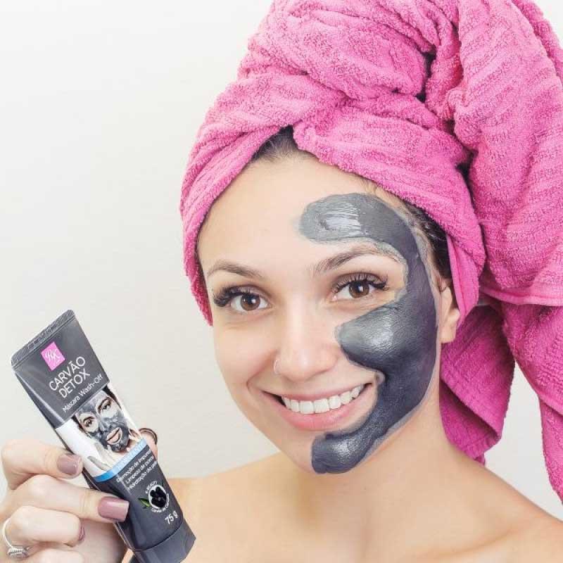 Máscara Hidratante Wash - Off Linha Carvão Detox Ruby Kiss