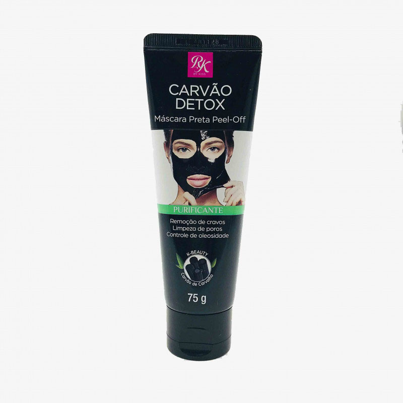 Máscara Preta Pell-off Linha Carvão Detox By Ruby Kiss