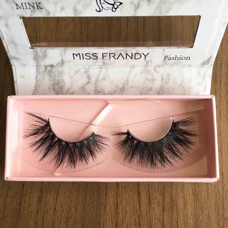 Miss Frandy Caixa De Cílios Postiços Com 1 Par Reutilizável Linha Fashion N1