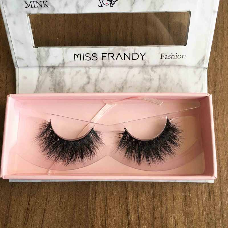 Miss Frandy Caixa De Cílios Postiços Com 1 Par Reutilizável Linha Fashion N2