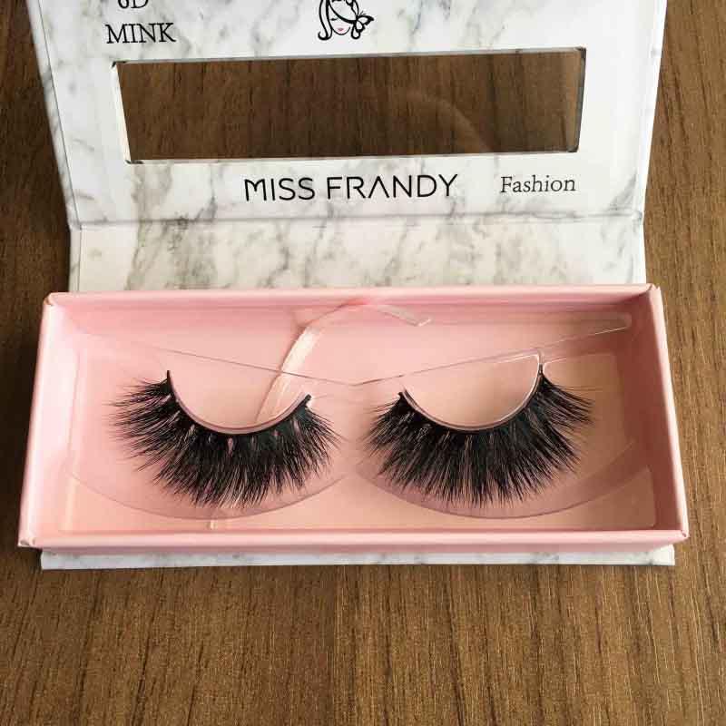 Miss Frandy Caixa De Cílios Postiços Com 1 Par Reutilizável Linha Fashion N3