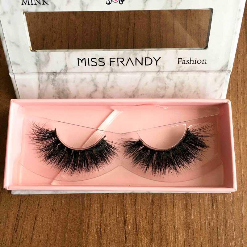 Miss Frandy Caixa De Cílios Postiços Com 1 Par Reutilizável Linha Fashion N5