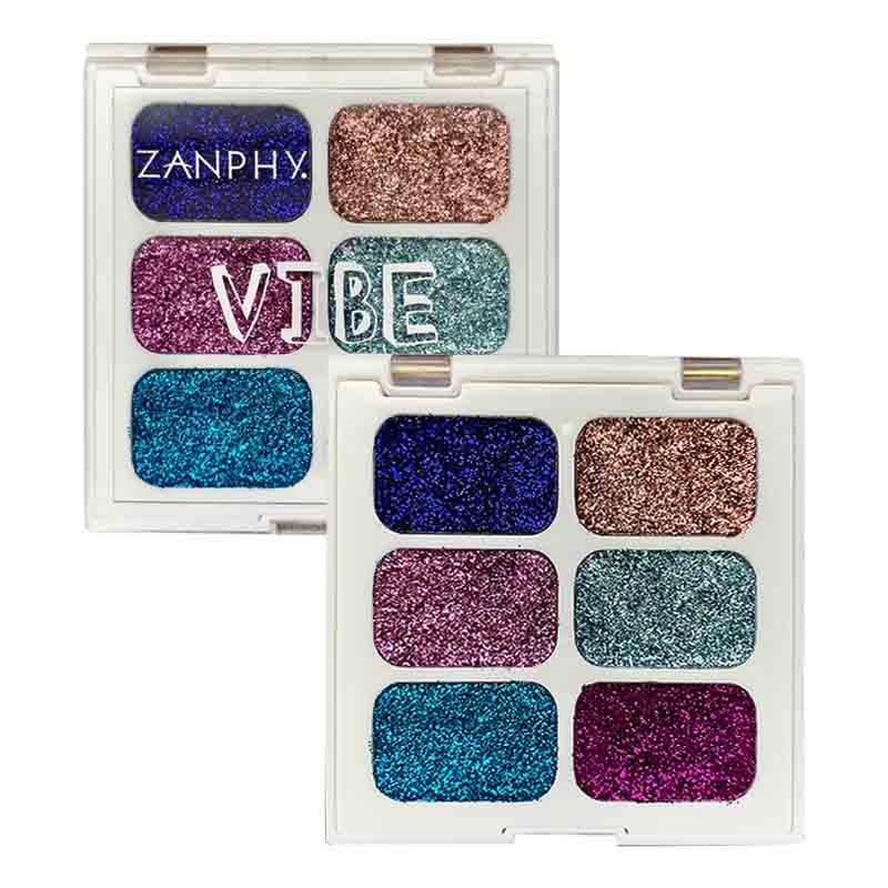 Paleta De Glitter Holográfico Linha Vibe Zanphy 2