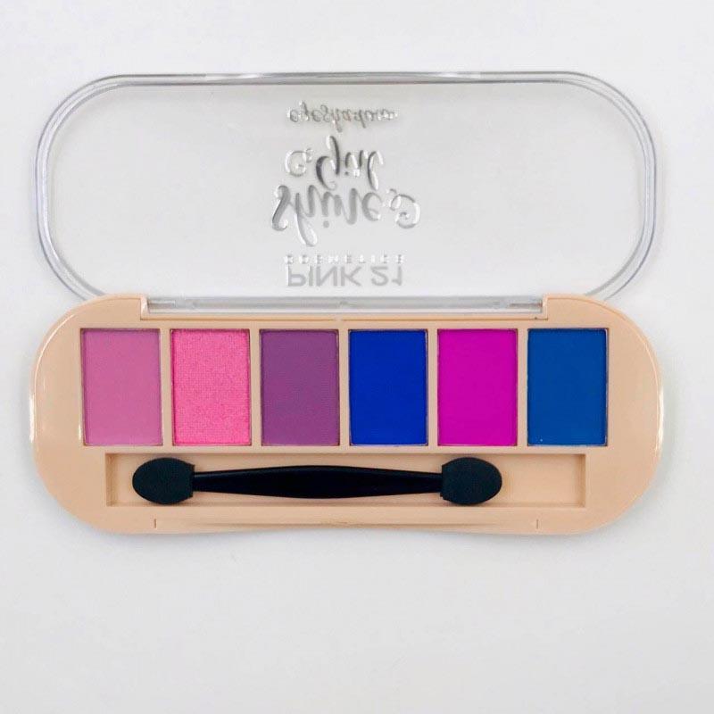 Pink21 Paleta De Sombras 6 Cores
