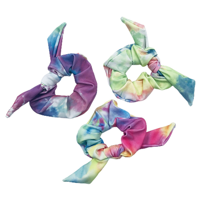 Pompom Scrunchie Tie Dye