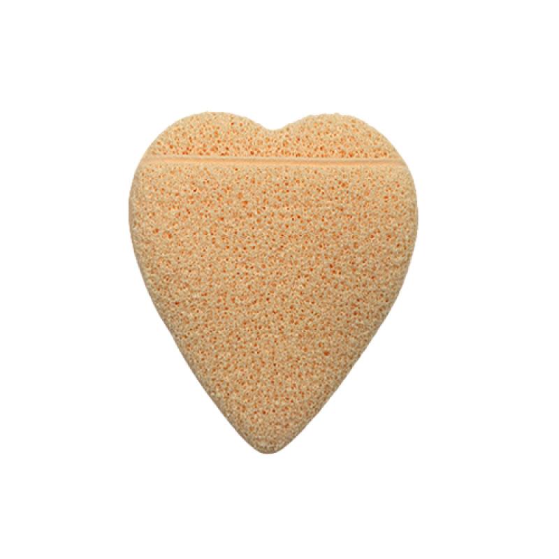 Real Love Esponja Esfoliadora Coração Com Encaixe Para Os Dedos Bege