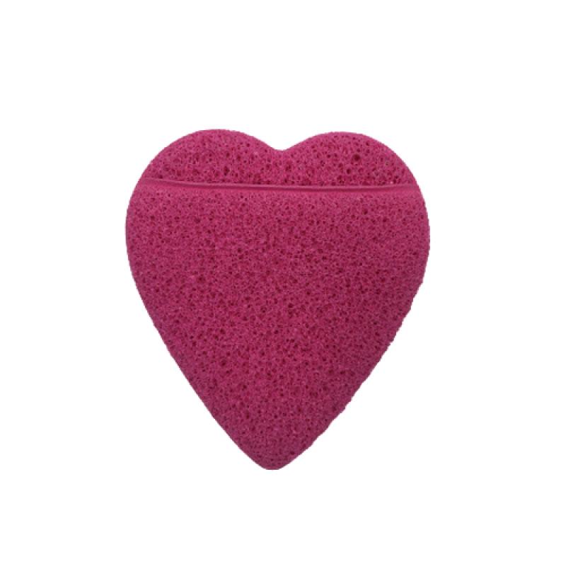 Real Love Esponja Esfoliadora Coração Com Encaixe Para Os Dedos Pink