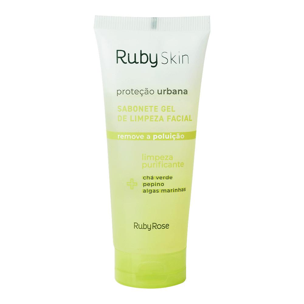 Ruby Rose Sabonete Gel de Limpeza Facial Linha Ruby Skin Proteção Urbana