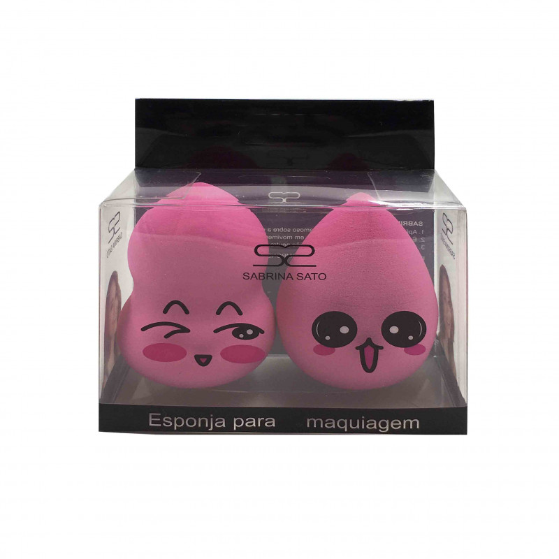 Sabrina Sato Dupla Esponja Para Maquiagem Pink