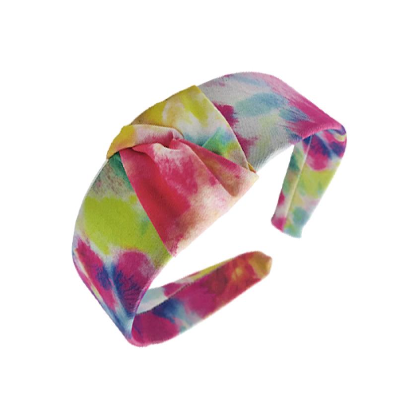 Tiara Grossa Tie Dye Com Nó