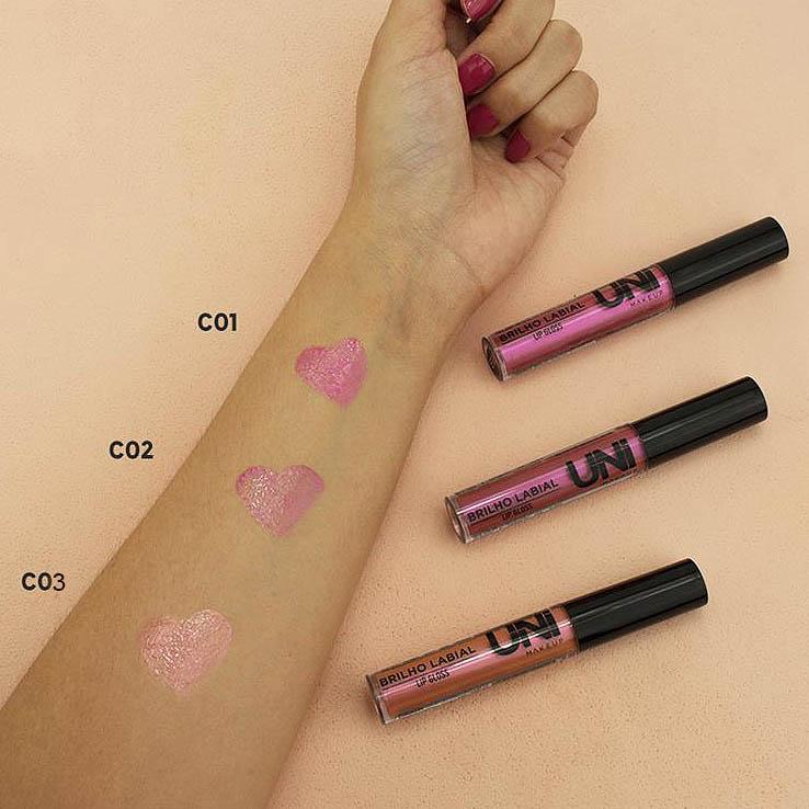 Uni Make Up BRILHO LABIAL LIP GLOSS-C02