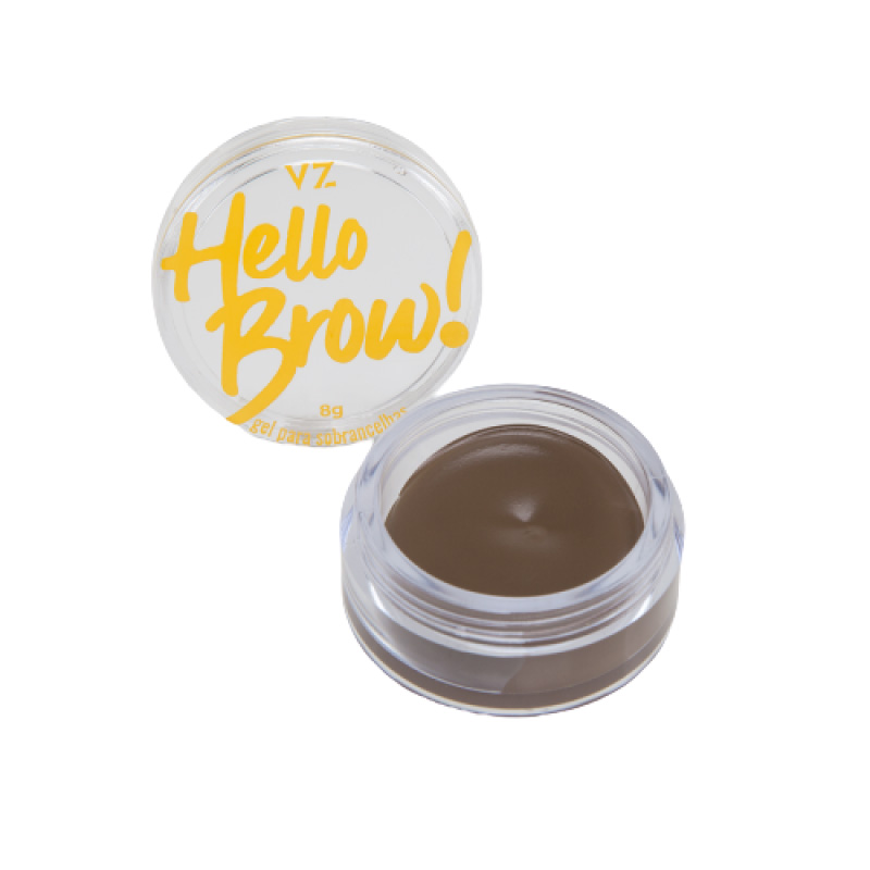 Vizzela Gel Para Sobrancelhas Hello Brown! Marrom Claro