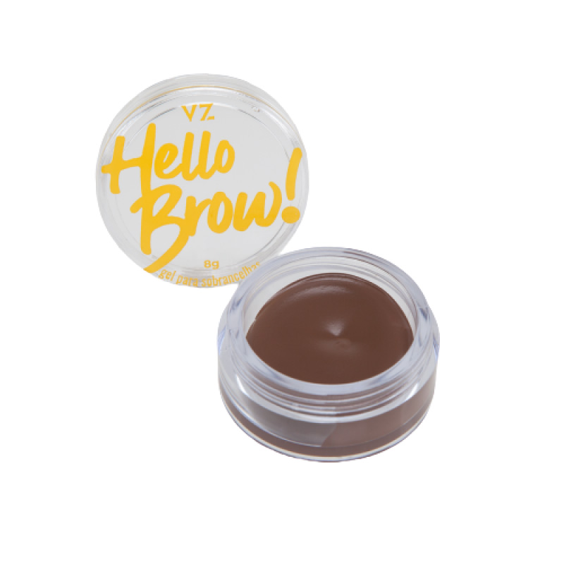 Vizzela Gel Para Sobrancelhas Hello Brown! Marrom Médio