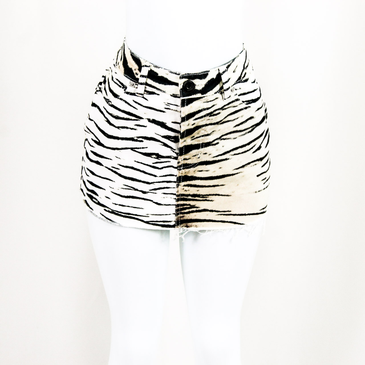 ANIMALE - JEANS OFF WHITE ANIMAL PRINT