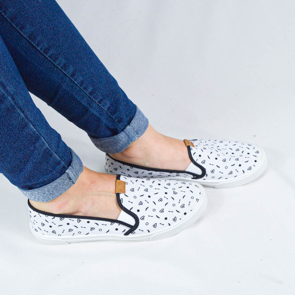 MOLECA - SLIP ON BRANCO