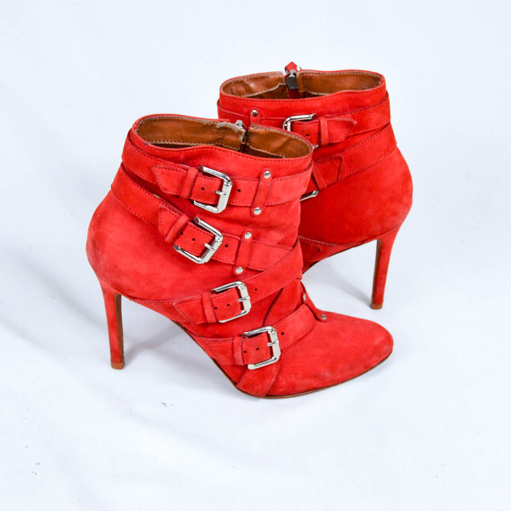 MY SHOES - ANKLE BOOT VERMELHO