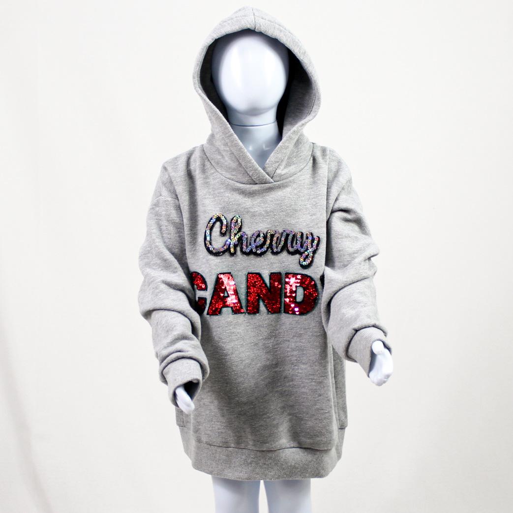ZARA - MOLETOM CINZA CHERRY CANDY