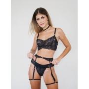 Conjunto Donna Grazia Preto