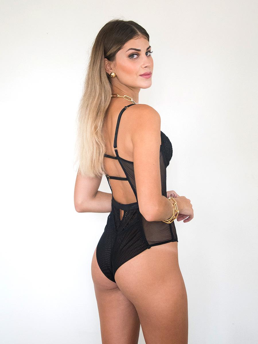 Body de Renda Preto Miranda