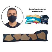2,5 Kg's de Retalho de Tecido Malha 100% Algodão p/ Máscaras