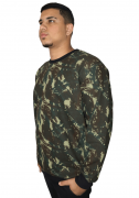 Agasalho de Moletom - Blusão Camuflado Folha Plus Size